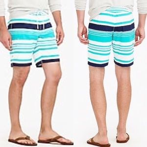 "J. Crew 9"" Board Short in Variegated Stripe"